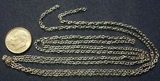 3 ft 3x2mm White gold plated cable link jewelry chain pch010