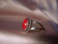 & Carnelian Ring Native American Sterling