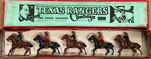 Britains: Extremely Rare Set 1508 - The Texas Rangers.  Pre War c1951
