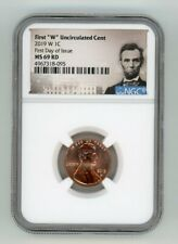 2019 W LINCOLN CENT 1C UNCIRCULATED NGC MS 69 RD FIRST DAY OF ISSUE 4967318-095