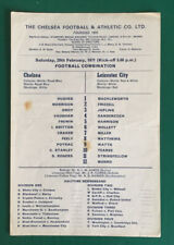 Chelsea Reserves v Leicester City Reserves  1970/71