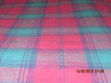 Vintage Faribo Burgundy Plaid 100% Merino Wool Blanket 51X47