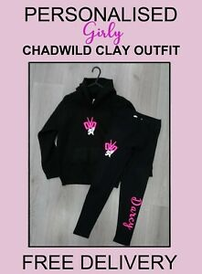CWC GIRLS Chad Wild Clay Outfit Hoody & Leggings Personalised FREE