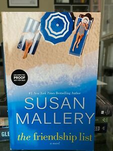 Susan Mallery The Friendship List VG+ 1st Edition 1st Printing ARC Softcover