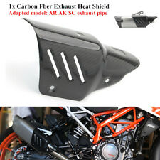 Anti-scald Motorcycle Exhaust Pipe Carbon Fiber Cover Protector Heat Shield Trim