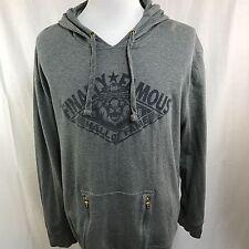 AURA Gold Men Hoodie Sweater Finally Famous Gray Cotton HIP Hop Big Sean  2XL