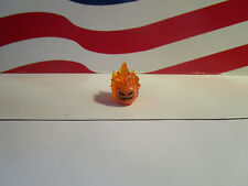 LEGO (1) FLAMING JACK O LANTERN HEAD FROM SET 76057 SUPER HEROES, HALLOWEEN