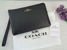 BNWT Coach New York Leather Wristlet Phone Purse/ Wallet - Black