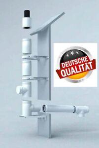 Abgas-System Brennwert Außenwand 60/100 Abgasrohr Abgasleitung Schornstein Kamin