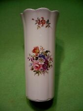 Vintage AYNSLEY vase  '  HOWARD SPRAYS  '  pattern with colorful flower bouquets