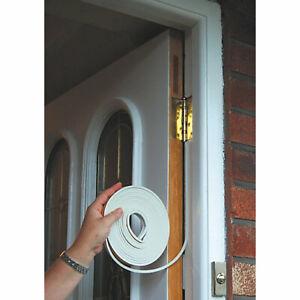 10m Self Adhesive Foam Draught Excluder Window Door Seal Strip Soundproof Rubber
