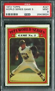 1972 Topps #227 World Series Gm 5 PSA 9 Mint!