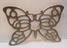 Butterfly Trivet Hotplate Footed Leonard Silver Plated Italy Vintage