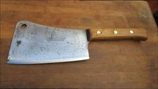 FINE Vintage F. DICK Butcher/Chef's Carbon Steel Meat Cleaver Knife RAZOR SHARP!