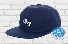 New Obey Bridgeport Stitched Navy Strapback Mens Cap Hat