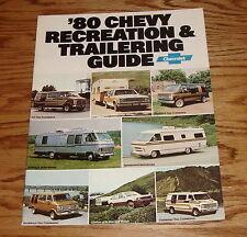 Original 1980 Chevrolet Recreation & Trailering Guide Brochure 80 Chevy Corvette