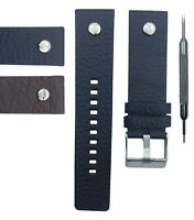 22/24/26/28mm Genuine Leather Watch Strap Band Fits For Diesel DZ7256.. W/ Tool