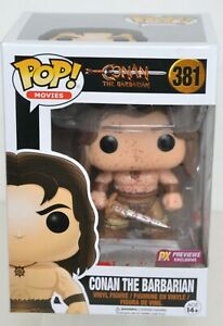 Funko Pop CONAN THE BARBARIAN Bloody Variant #381 Previews Exclusive PX NRFB