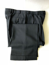 Brooks Brothers MADISON Blue Wool Pleated Cuffed Mens Pants Size 35x28.5