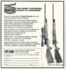 1971 small Print Ad of Mauser Bauer Corp Model 660 & 3000 Rifle Original Mauser