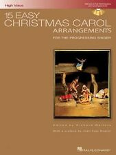 15 EASY CHRISTMAS CAROL ARRANGEMENTS-HIGH VOICE MUSIC BOOK/CD-NEW ON SALE-SINGER