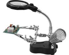Helping Hand mit LED-Licht und Lupe (Halter mit Lupe und Licht) Donau Elektronik