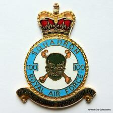RAF 100 Squadron DANBURY MINT Blank Badge -24ct Gold Plate 1970s Royal Air Force