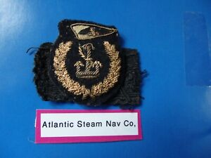 Merchant Navy officers vintage cap badge Atlantic Steam Nav Co.