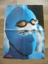 Vintage Original David Bowie Poster with Eric Clapton on the Reverse, Rare!