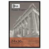Dax Flat Face Wood Poster Frame w/Plexiglas Window, 24 x 36, Black (DAX286036X)