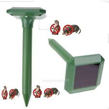 2pcs Solar Power Ultrasonic Gopher Mole Snake Mouse Pest Reject Repeller Outdoor
