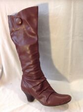 Clarks Brown Knee High Leather Boots Size 5D