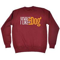 The More People I Meet The More I Like My Dog SWEATSHIRT Pets Dog Christmas