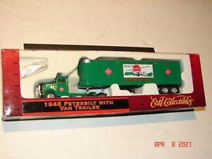 ERTL HO - 1948 PETERBILT W/ Green VAN TRAILER Railway Express Agency *MIB*