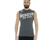 Boxeur des Rues Serie Fight Activewear Canotta Uomo Antracite M (y1i)