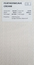 "89mm (3.5"") VERTICAL BLIND FABRIC. FULL ROLL. 100M. FEATHERWEAVE CREAM"