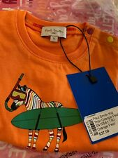 Paul Smith baby T-shirt. Colourful zebra, original and RRP £37
