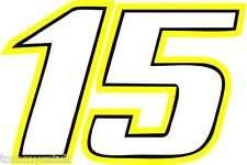 Motorbike Vinyl Stickers 15 - Race Numbers Barry Sheene Motorcycle Decals