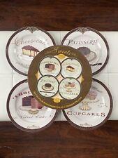 Angela Staehling Sweets Dessert Salad Plates Set 4 Oneida Cheesecake Chocolate