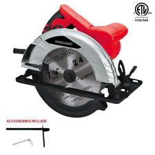 """Toolman Heavy Duty 12 Amp 7-1/4"""" Adjustable Electric Circular Saw w/ 1 blade"""