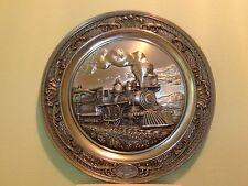 Bradford Exchange 4-4-0 American Standard Steam Locomotive Train Pewter plate
