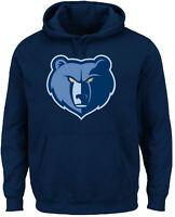 Memphis Grizzlies Mens Blue Majestic Logo 2 Hoodie Sweatshirt