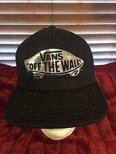 Men's NWOT VANS Of The Wall Mesh Back Black Adj Snap Hat H102