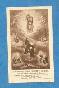 IMAGE PIEUSE ANDRE FOURNET CURE DE MAILLE 1926 SOEURS DE LA CROIX FILLES SAINT