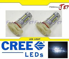 CREE LED 80W 12086 5202 H16 9009 PS24W WHITE 5000K TWO BULB LIGHT JDM COLOR