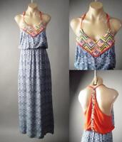 Colorful Global Folk Embroidery Bandana Moroccan Long Maxi 179 mv Dress XS S M L