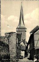 Duderstadt Niedersachsen s/w AK Postkarte Westerturm Turm mit alter Stadtmauer