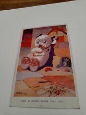 BONZO DOG GE Studdy 1934 Postcard Not a Cheep from you yet 2288 NOW ONLY £7.99