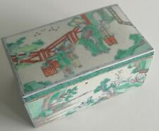 7 CHINESE MING DYNASTY DOUCAI LIDDED PORCELAINE BOX STYLE