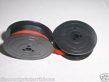 Olivetti Lettera 32 35 36 36C Typewriter Ribbon Red +Black Ink on Olivetti Spool